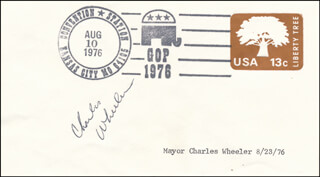CHARLES B. WHEELER - FIRST DAY COVER SIGNED