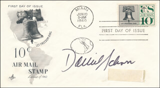 DANIEL L. SCHORR - FIRST DAY COVER SIGNED