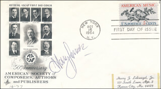 HARRY JAMES - FIRST DAY COVER SIGNED