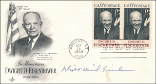 DAVID (DWIGHT DAVID EISENHOWER II) EISENHOWER - FIRST DAY COVER SIGNED