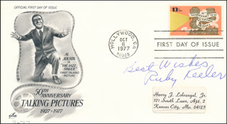 RUBY KEELER - AUTOGRAPH SENTIMENT ON FIRST DAY COVER SIGNED