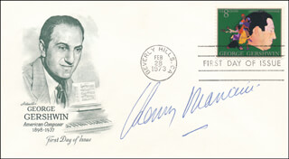 HENRY MANCINI - FIRST DAY COVER SIGNED