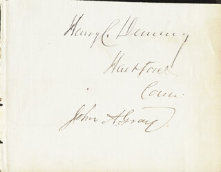 HENRY CHAMPION DEMING - AUTOGRAPH CO-SIGNED BY: JOHN A. GRAY