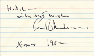 ROBERT O. ANDERSON - AUTOGRAPH NOTE SIGNED 1982