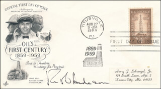 ROBERT O. ANDERSON - FIRST DAY COVER SIGNED