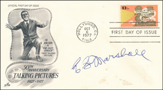 E.G. MARSHALL - FIRST DAY COVER SIGNED