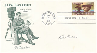 ELIA KAZAN - FIRST DAY COVER SIGNED