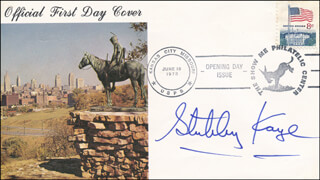 STUBBY KAYE - FIRST DAY COVER SIGNED