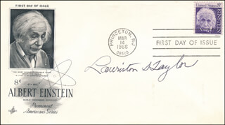 LAURISTON S. TAYLOR - FIRST DAY COVER SIGNED