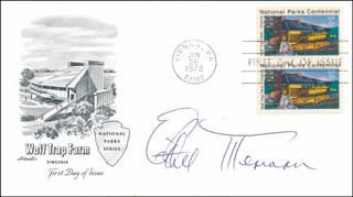 ETHEL MERMAN - FIRST DAY COVER SIGNED