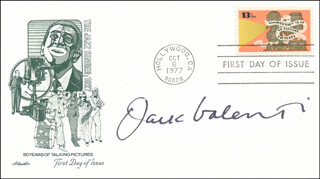 JACK VALENTI - FIRST DAY COVER SIGNED