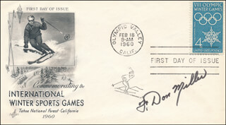 COLONEL F. DON MILLER - FIRST DAY COVER SIGNED