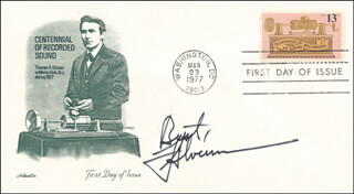FRED SILVERMAN - FIRST DAY COVER SIGNED