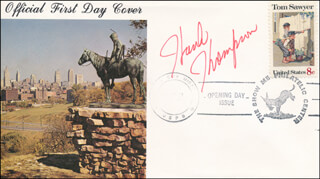 HANK THOMPSON - FIRST DAY COVER SIGNED