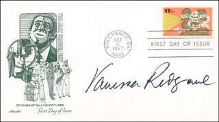 VANESSA REDGRAVE - FIRST DAY COVER SIGNED
