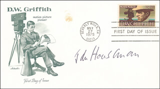 JOHN HOUSEMAN - FIRST DAY COVER SIGNED