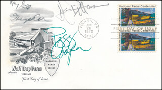 GEORGE COE - FIRST DAY COVER SIGNED CO-SIGNED BY: DEAN DITTMAN, PEGGY COOPER, RAY GILL - HFSID 343662