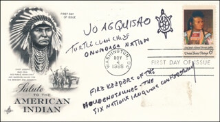 Autographs: OREN R. (JO AG QUIS HO) LYONS JR. - FIRST DAY COVER SIGNED
