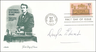 DOUGLAS EDWARDS - FIRST DAY COVER SIGNED