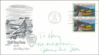 JAMES EARL JONES - FIRST DAY COVER SIGNED