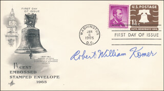 ROBERT WILLIAM KOMER - FIRST DAY COVER SIGNED