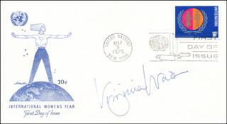 VIRGINIA WADE - FIRST DAY COVER SIGNED