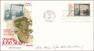 HELEN FARR SLOAN - FIRST DAY COVER SIGNED
