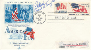 GENERAL GEORGE H. DECKER - FIRST DAY COVER SIGNED