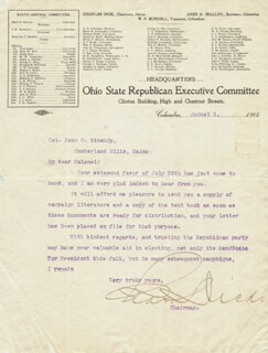 Autographs: CHARLES DICK - TYPED LETTER SIGNED 08/03/1904