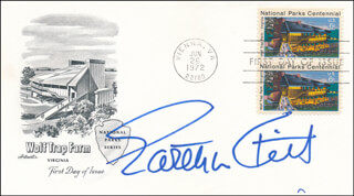 EARTHA KITT - FIRST DAY COVER SIGNED