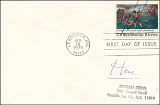 GEOFFREY (BARON HOWE OF ABERAVON) HOWE - FIRST DAY COVER SIGNED