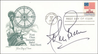 JOHNNY GREEN - FIRST DAY COVER SIGNED