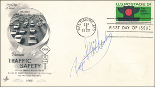 ROGER McCLUSKEY - FIRST DAY COVER SIGNED