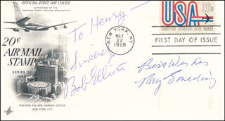 BOB & RAY - AUTOGRAPH NOTE SIGNED CO-SIGNED BY: BOB & RAY (BOB ELLIOTT), BOB & RAY (RAY GOULDING)