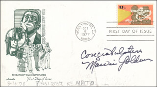 MARVIN GOLDMAN - FIRST DAY COVER SIGNED