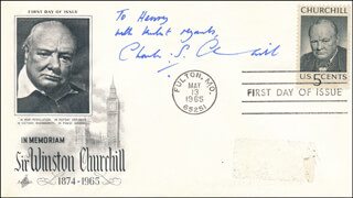 Autographs: CHARLES S. CHURCHILL - AUTOGRAPH NOTE SIGNED