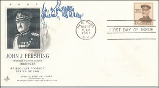 GENERAL MATTHEW B. RIDGWAY - FIRST DAY COVER SIGNED