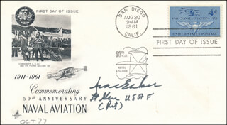 GENERAL IRA C. EAKER - FIRST DAY COVER SIGNED