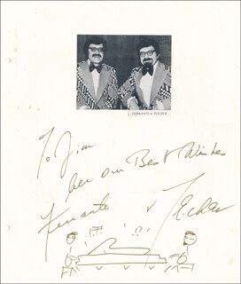 FERRANTE & TEICHER - INSCRIBED ORIGINAL ART SIGNED CO-SIGNED BY: FERRANTE & TEICHER (ARTHUR FERRANTE), FERRANTE & TEICHER (LOUIS TEICHER)