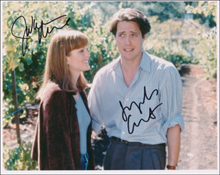 NINE MONTHS MOVIE CAST - AUTOGRAPHED SIGNED PHOTOGRAPH CO-SIGNED BY: JULIANNE MOORE, HUGH GRANT