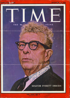 Autographs: EVERETT M. DIRKSEN - MAGAZINE COVER SIGNED