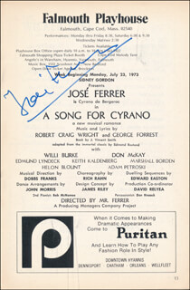 JOSE FERRER - SHOW BILL SIGNED