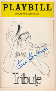 JACK LEMMON - SHOW BILL SIGNED