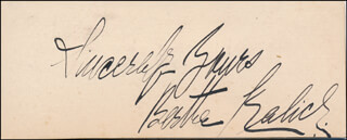 BERTHA KALICH - AUTOGRAPH SENTIMENT SIGNED