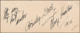 ROSIE (ROSZIKA DEUTSCH) DOLLY - AUTOGRAPH SENTIMENT SIGNED 1913