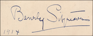 BEVERLY SITGREAVES - AUTOGRAPH 1914