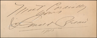 DONALD BRIAN - AUTOGRAPH SENTIMENT SIGNED 1915