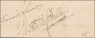 MATHILDE COTTRELLY - AUTOGRAPH SENTIMENT SIGNED 1913