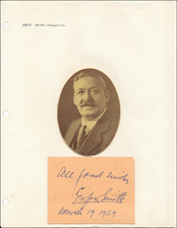 Autographs: RODNEY GIPSY SMITH - AUTOGRAPH SENTIMENT SIGNED 03/19/1929