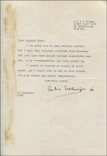 ARTHUR M. SCHLESINGER JR. - TYPED LETTER SIGNED 12/14/1945